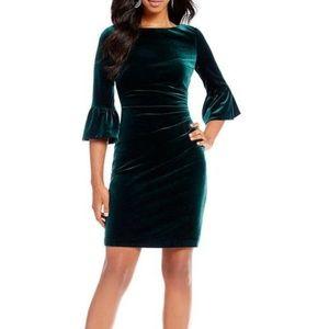 🆕 Vince Camuto green velvet dress - 8